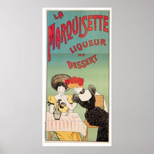 La Marquisette Liqueur Vintage Drink Wine Ad Art