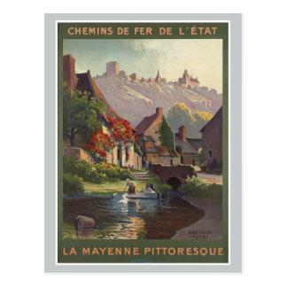 La Mayenne Pittoresque France Railways Vintage Postcard