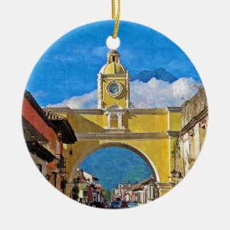 La Merced Arch - Antigua Round Ceramic Decoration