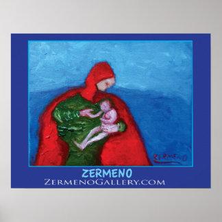 """""""La Mere"""" by Zermeno Poster"""