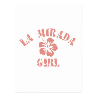 La Mesa Pink Girl Postcards