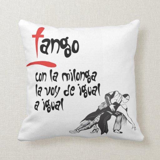 La Milonga y yo Tango Pillow