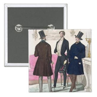 La Mode: Advertisement for 19th Century Men's Fash 15 Cm Square Badge