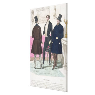 La Mode: Advertisement for 19th Century Men's Fash Canvas Print