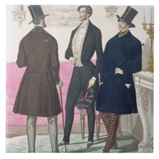 La Mode: Advertisement for 19th Century Men's Fash Tile
