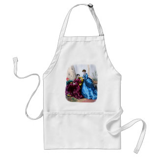La Mode Illustree Blue and Raspberry Gowns Standard Apron
