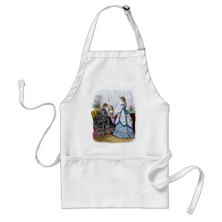 La Mode Illustree Blue & White & Red & Green Gowns Apron