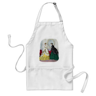La Mode Illustree Green and Yellow Gowns Apron