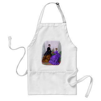 La Mode Illustree Purple and Rust Gowns Standard Apron