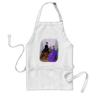 La Mode Illustree Purple and Rust Gowns Standard Apron