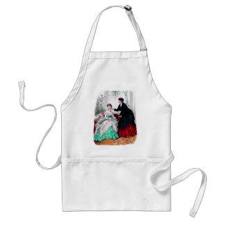 La Mode Illustree Seafoam and Ruby Gowns Apron