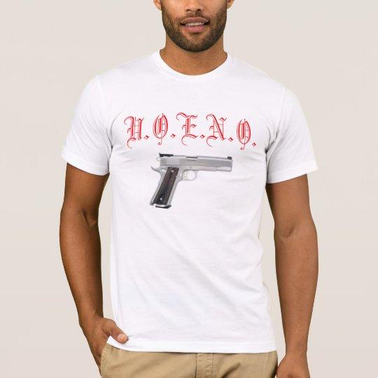 La Monda&Co. White UOENO GUN T-SHIRT