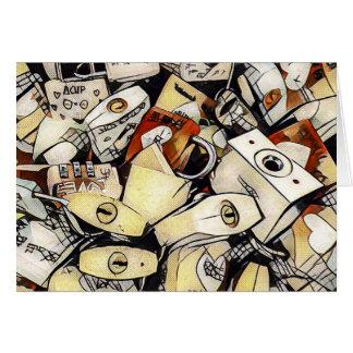 La Monde - Love Locks (beige) Card