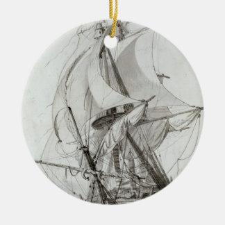 La Montagne, c.1794 (w/c pen & ink) Christmas Ornament