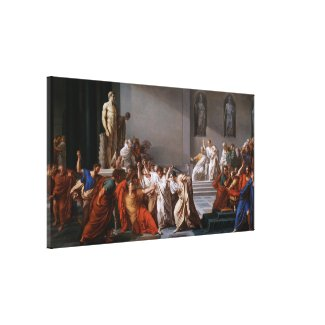 La morte di Cesare by Vincenzo Camuccini Canvas Print