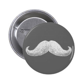 La Moustache (Dark) 6 Cm Round Badge