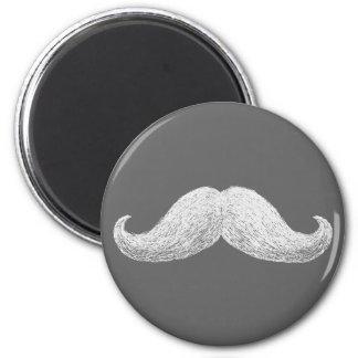 La Moustache (Dark) 6 Cm Round Magnet