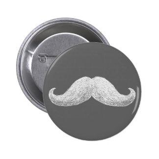 La Moustache (Dark) 6 Cm Round Badge