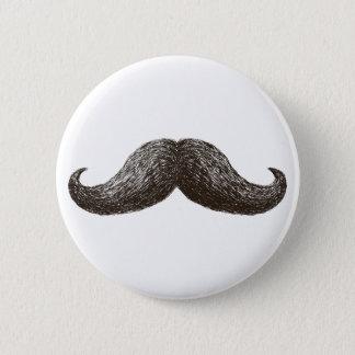 La Moustache (Light) 6 Cm Round Badge