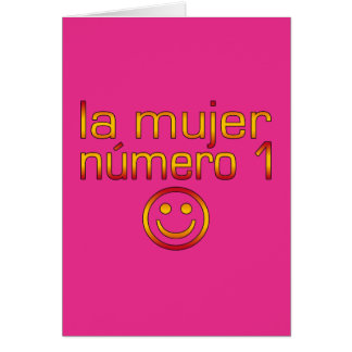 La Mujer Número 1 - Number 1 Wife in Spanish Greeting Card