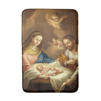 """La Natividad"" art bath mats"