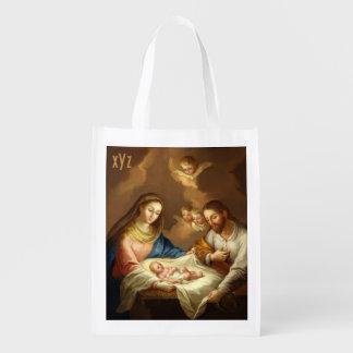 """La Natividad"" custom monogram reusable bag"