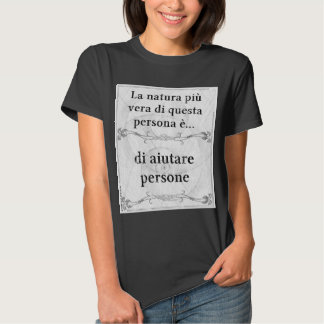 La natura più vera: aiutare persone sostenere t-shirt