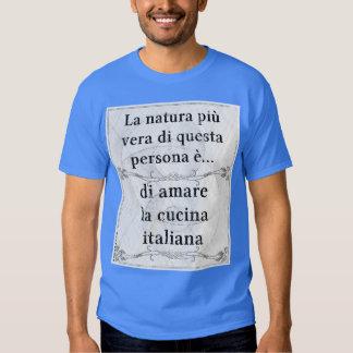 La natura più vera: amare cucina italiana t shirt