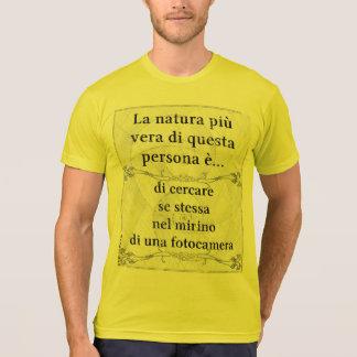 La natura più vera: cercare mirino fotocamera t shirt