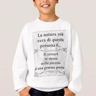 La natura più vera: cercare purezza gemma gioiello sweatshirt