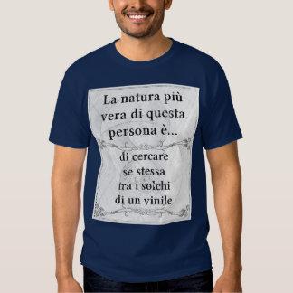 La natura più vera: cercare solchi vinile disco shirt
