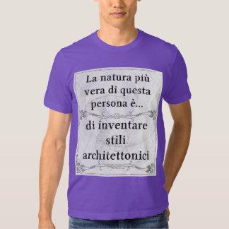 La natura più vera: inventare stili architettonici tee shirt