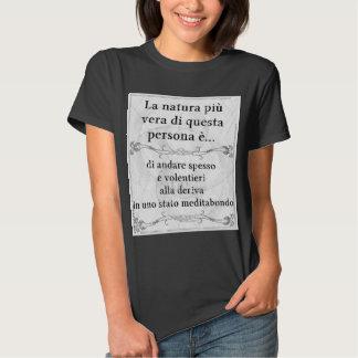 La natura più vera: meditare deriva pensieri tee shirt