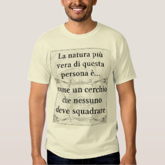 La natura più vera: persona cerchio quadrato tshirt