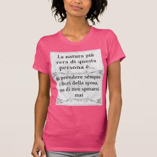 La natura più vera... sposa fiori matrimonio t-shirt