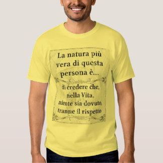 La natura più vera: vita credere rispetto t shirts