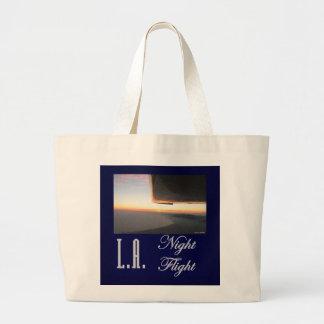 LA Night Flight Canvas Bags