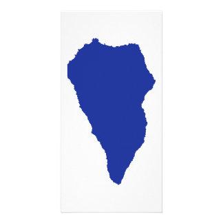 La Palma map Photo Card Template