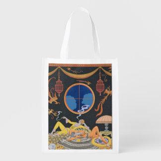 La Paresse, 1924 (pochoir print) Grocery Bags