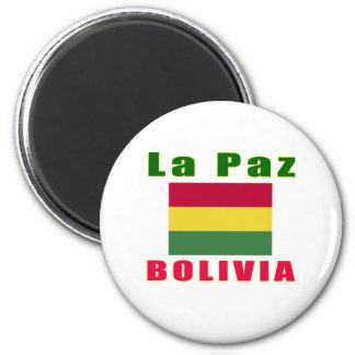 La Paz Bolivia capital designs Magnet