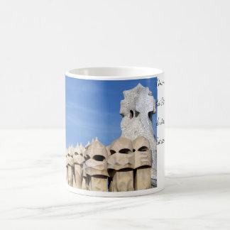 La Pedrera Chimneys Classic White Coffee Mug