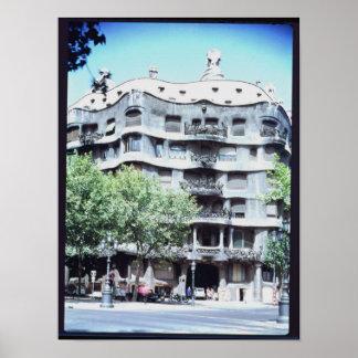 La Pedrera or Casa Mila, 1905-10 Poster
