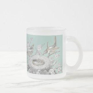 La petite famille frosted glass mug