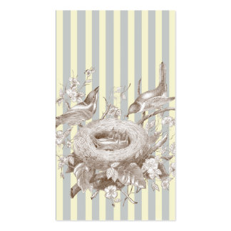 La Petite Famille on blue and cream Swing tag Business Cards