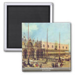 La Piazza San Marco. By Canaletto Refrigerator Magnets
