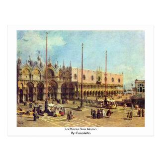 La Piazza San Marco. By Canaletto Postcard