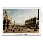 La Piazzetta By Canaletto (Ii) Greeting Card