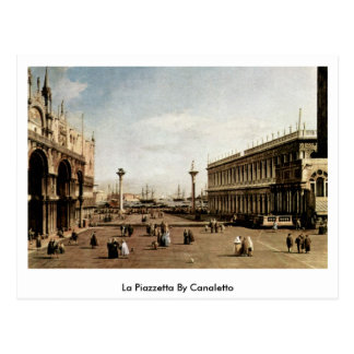 La Piazzetta By Canaletto (Ii) Postcard