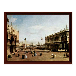 La Piazzetta By Canaletto Post Card