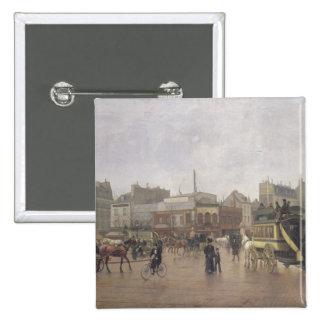 La Place Clichy, Paris, 1896 15 Cm Square Badge